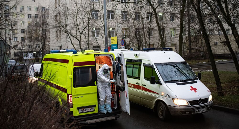 koronavirüs, ambulans, Moskova, Rusya