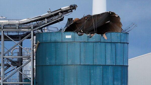 İngiltere'nin Bristol kentindeki bir atık su arıtma tesisinde meydana gelen patlama - Sputnik Türkiye