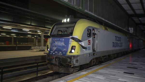Çin'e giden ilk ihracat treni Ankara'dan geçti - Sputnik Türkiye