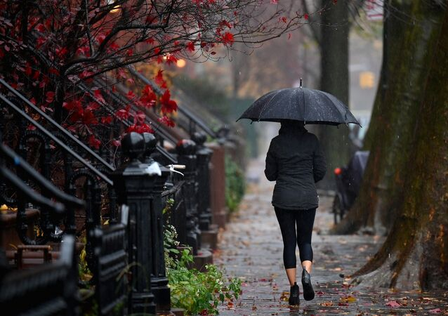 Hava - sıcaklık - şemsiye - New York + ABD