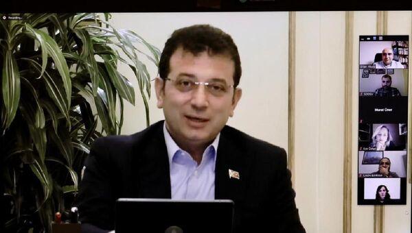 İstanbul Büyükşehir Belediye (İBB) BaşkanıEkrem İmamoğlu, Sosyal Demokrasi Vakfı (SODEV) Yerel Yönetimler Okulu'nun kapanış dersini verdi. - Sputnik Türkiye