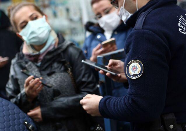 HES kodu, polis, Türkiye koronavirüs