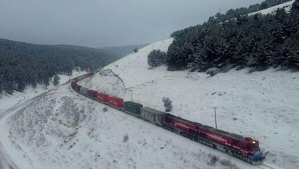 Türkiye'den Çin'e gidecek ilk blok ihracat treni  - Sputnik Türkiye
