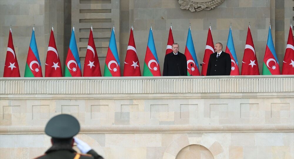 Cumhurbaşkanı Recep Tayyip Erdoğan -  Cumhurbaşkanı İlham Aliyev  - Azerbaycan - Zafer Geçidi Töreni -