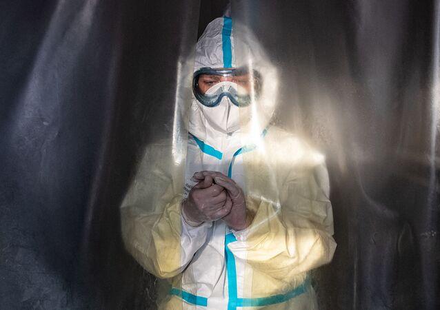 Rusya - Moskova - koronavirüs - sağlık çalışanı