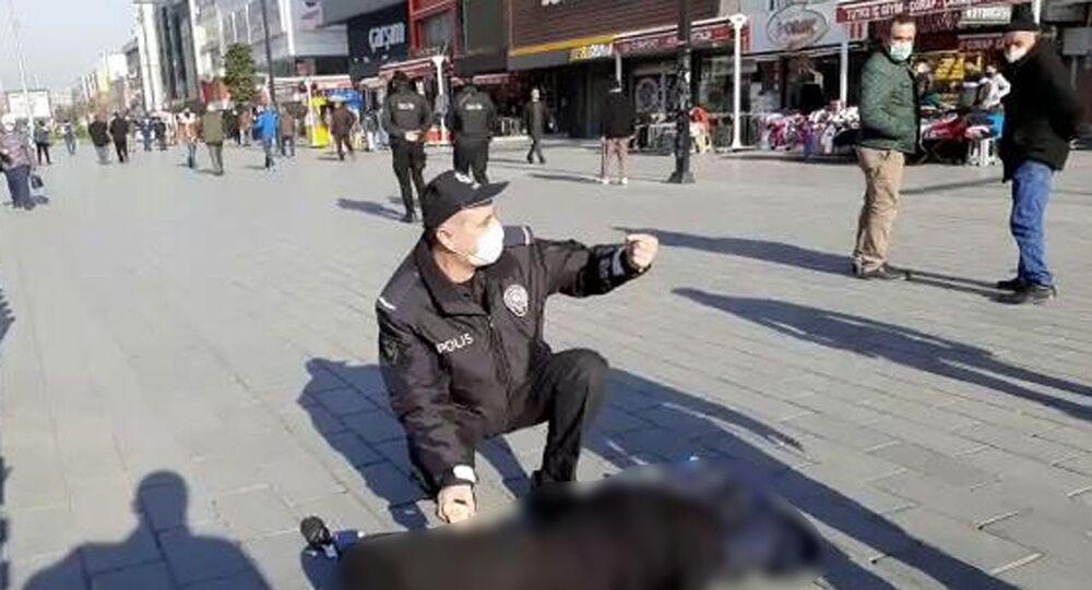 Esenyurt meydanda bayılan kadın, polis