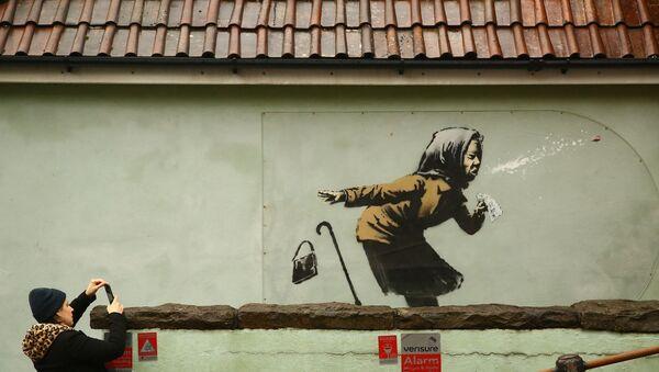 Banksy'nin 'hapşu adlı grafitisi - Sputnik Türkiye