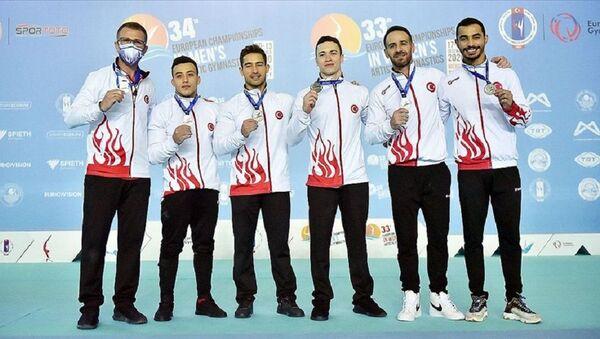 Avrupa Erkekler Artistik Cimnastik Şampiyonası'nda Türkiye ikinci oldu - Sputnik Türkiye