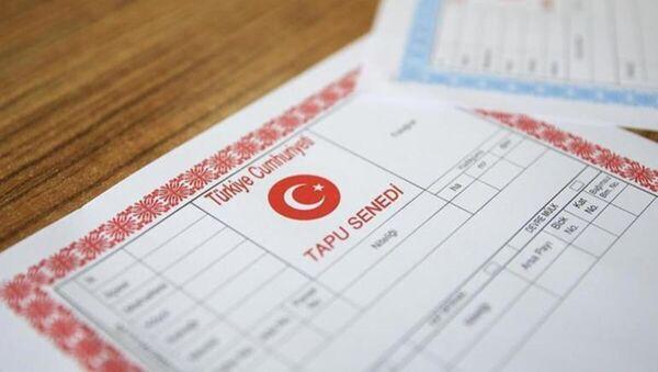 tapu senedi - Sputnik Türkiye