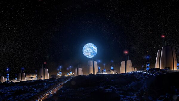 Ay'da inşa edilecek evler - Sputnik Türkiye