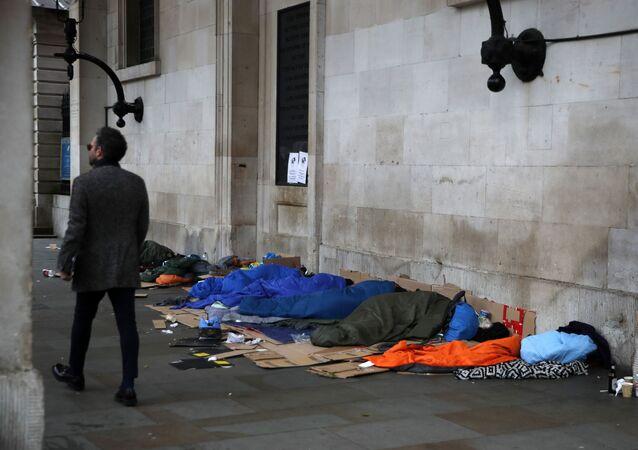 Londra  - evsizler - İngiltere
