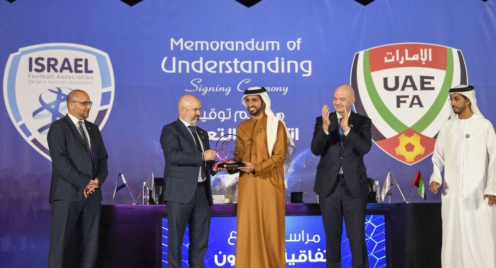 Oren Hasson, Şeyh Rashid bin Humaid Al Nuaimi, Gianni Infantino- İsrail, BAE, FIFA