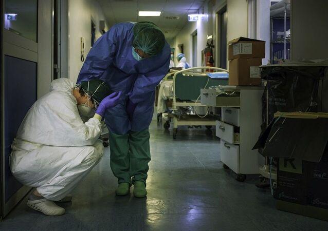 İtalya, koronavirüs, hastane