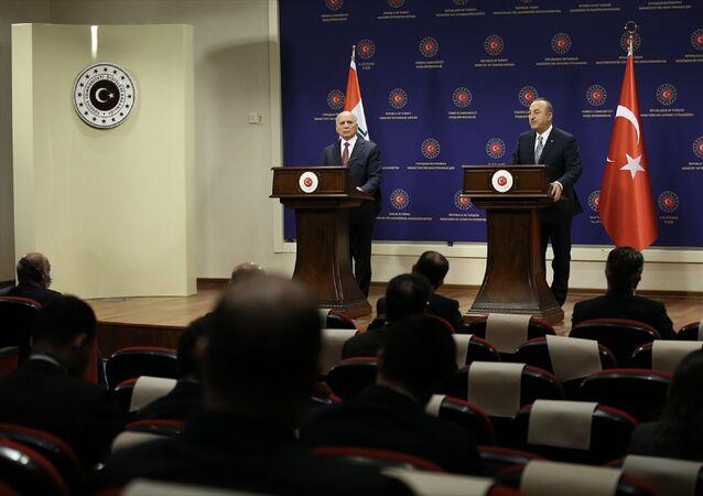 Dışişleri Bakanı Mevlüt Çavuşoğlu, Irak Dışişleri Bakanı Fuad Hüseyin