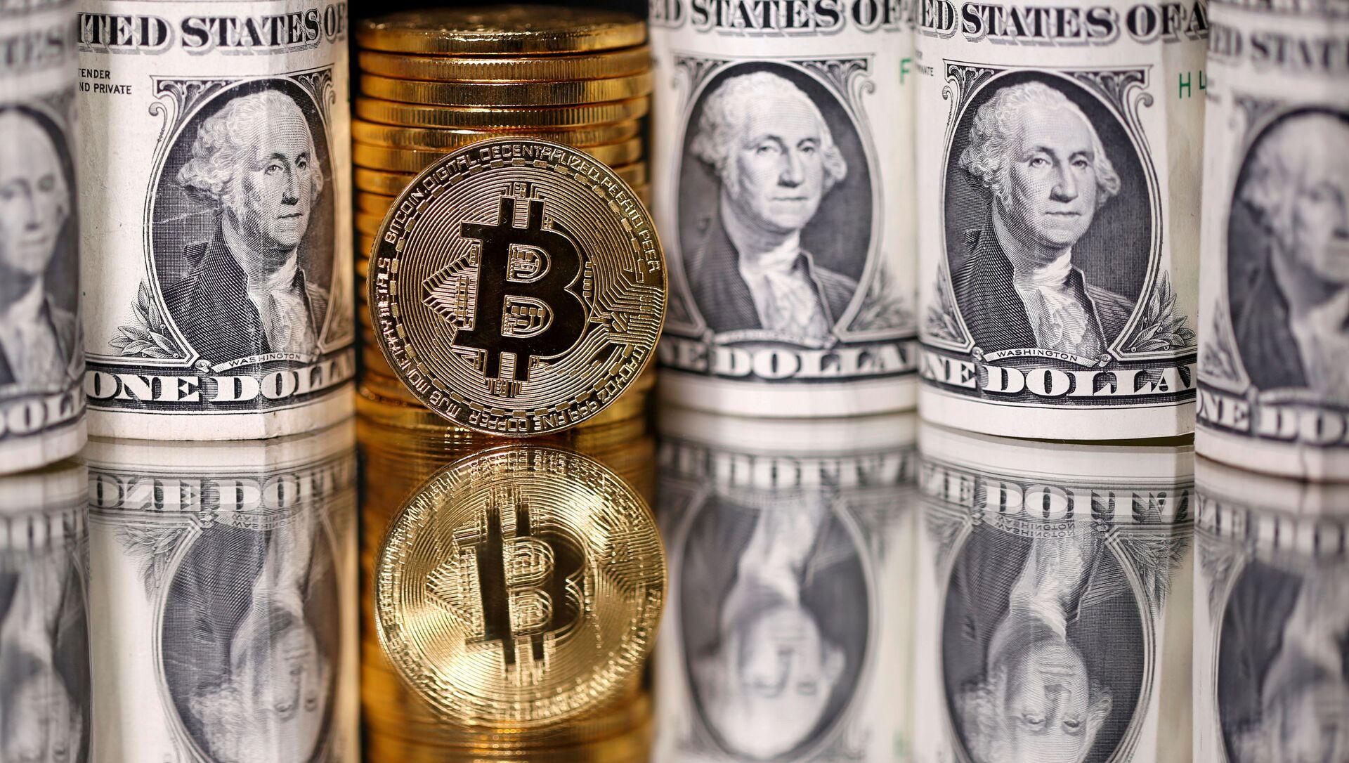 Bitcoin ve dolar - Sputnik Türkiye, 1920, 06.04.2021