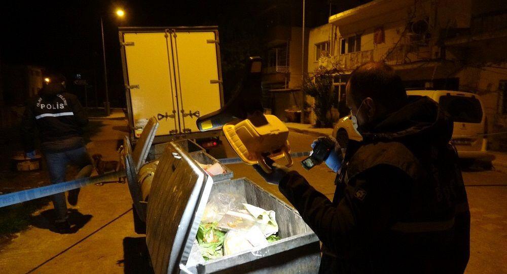 Çöp konteyneri-polis-bebek cesedi