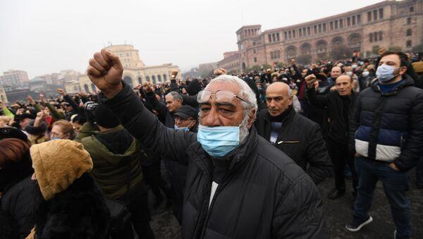 Ermenistan, Erivan, protesto - Sputnik Türkiye