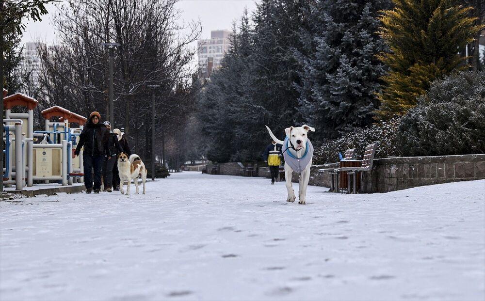 Kentin Çankaya ve Keçiören gibi yüksek ilçelerinde kar yağışı etkili oldu.