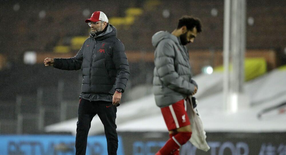 Liverpool Teknik Direktörü Jürgen Klopp ve Muhammed Salah