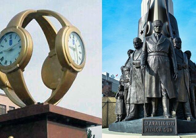 Ankara Büyükşehir Belediyesi'nin (ABB), Atatürk'ün Ankara'ya gelişinin yıl dönümü anısına Genelkurmay Kavşağı'nda yaptırdığı 27 Aralık 1919 Kızılca Gün Anıtı'nın açılışı yapıldı.