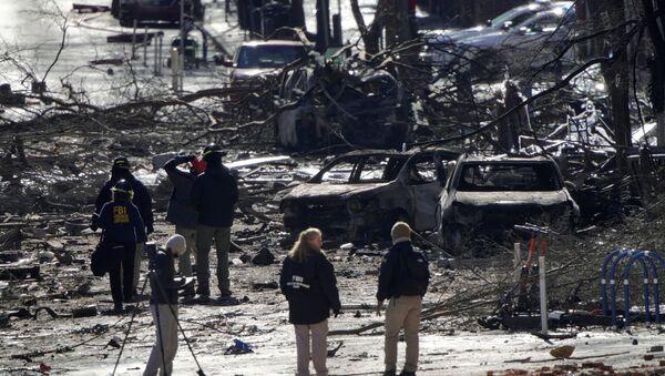 ABD'nin Nashville kentindeki patlama - Sputnik Türkiye