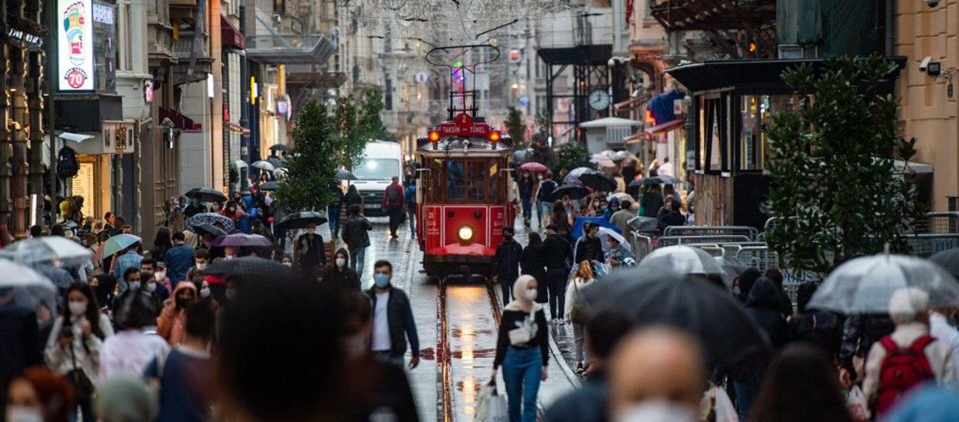 İstiklal caddesi - koronavirüs - maske - Sputnik Türkiye, 1920, 12.04.2021