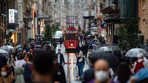 İstiklal caddesi - koronavirüs - maske - Sputnik Türkiye