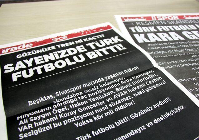 Sivas'ta yerel gazetelerin spor sayfaları