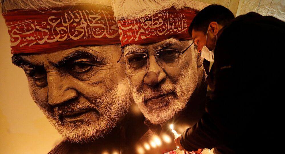 İran Devrim Muhafızları generali Kasım Süleymani'ninABD Başkanı Donald Trump'ın talimatıyla 3 Ocak 2020'de bir İHA saldırısı sonucu Irak'taki Bağdat Havalimanı yakınlarında öldürülmesinin 1. yıldönümü, gösterilerle anılıyor.