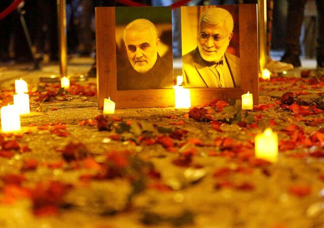 Geçen yıl 3 Ocak'ta ABD'nin düzenlediği saldırıyla öldürülen İran Devrim Muhafızları Ordusu'na bağlı Kudüs Gücü Komutanı General Kasım Süleymani'nin 1. ölüm yılı