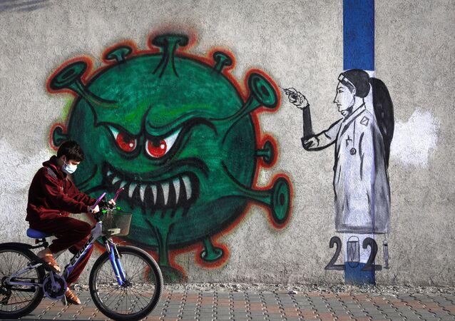 Maske - koronavirüs - çocuk - virüs -  Kovid-19 - Gazze  Filistin