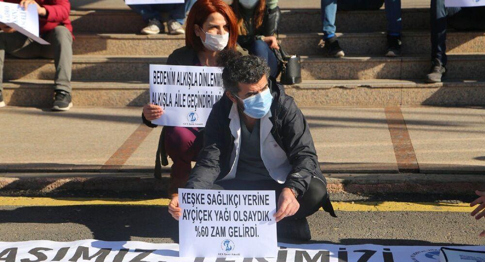 Sağlık Çalışanlarının zam protestosu - Diyarbakır