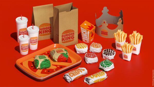 Burger King, 2021 yılında eski logosuna geri döndü. - Sputnik Türkiye
