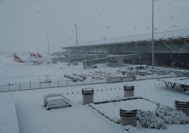 İspanya'da Filomena kar fırtınası