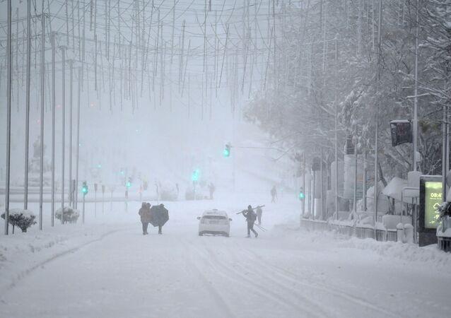 Yoğun kar yağışı- Madrid/ İspanya