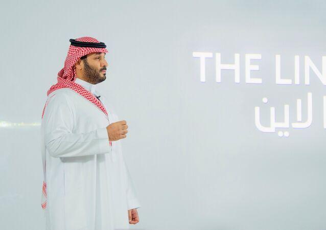 SuudiArabistan Veliaht Prensi Muhammed bin Selman (MbS), NEOM içindeki 'The Line'ı (Çizgi) 'sıfır karbon şehri' olarak sundu.