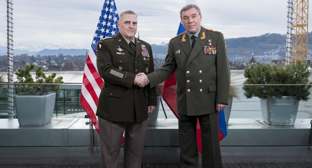 Rusya Genelkurmay Başkanı Orgeneral Valeriy Gerasimov, ABD Genelkurmay Başkanı Orgeneral Mark Milley