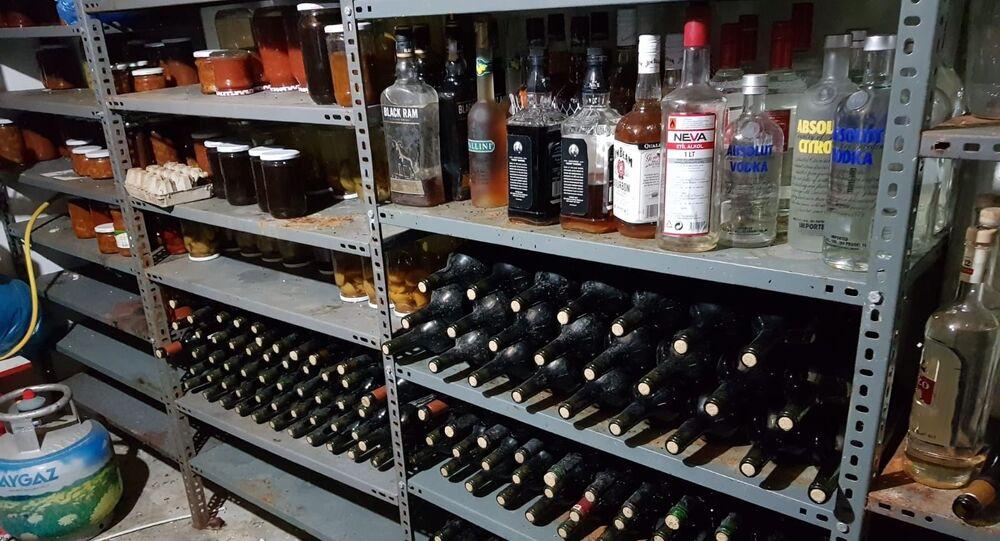 Tekirdağ'da 550 litre sahte içki ele geçirildi