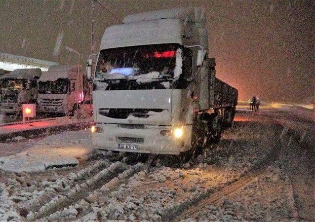 Tokat-yoğun kar
