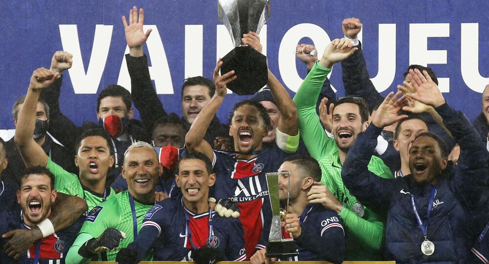 2020Fransa SüperKupa'da Olympique Marsilya'yı2-1mağlup edenParis Saint-Germain (PSG), kupanın sahibi oldu.