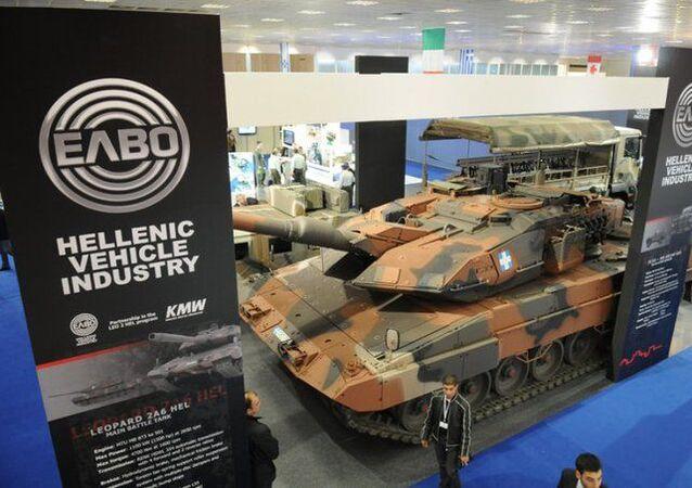 Yunan Askeri Araç Sanayii (ELVO) şirketi bir savunma fuarında
