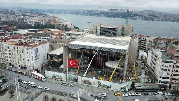 Atatürk Kültür Merkezi (AKM) inşaatı - Sputnik Türkiye