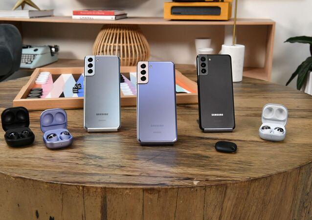 Samsung Galaxy S21+, Samsung Galaxy SmartTag,  Samsung Galaxy Buds Pro