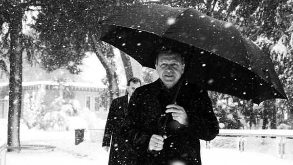 Erdoğan - kar hatırası - Sputnik Türkiye