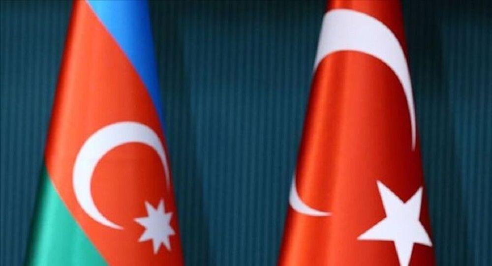 Azerbaycan, Türkiye, bayrak