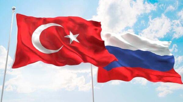 Rusya Türkiye bayrakları - Sputnik Türkiye