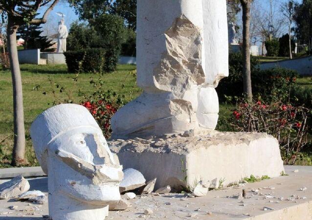Antalya'da heykel saldırıları devam ediyor