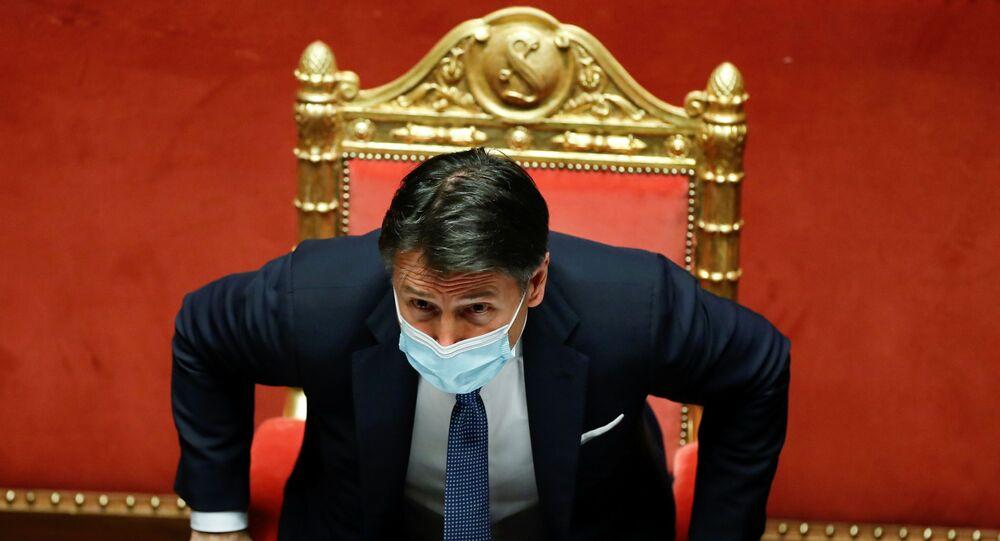 Giuseppe Conte, Senato'daki güvenoylamasında