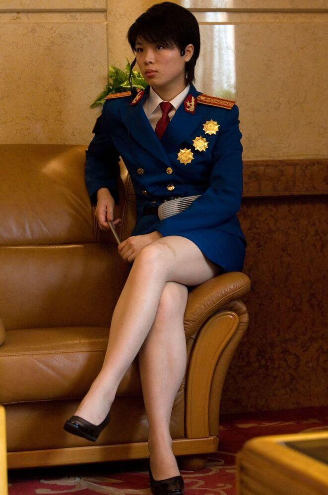 Çin ordusunda görev yapan kadın asker