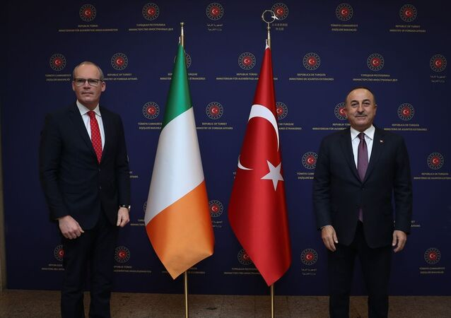 Dışişleri Bakanı Mevlüt Çavuşoğlu, İrlanda Dışişleri Bakanı Simon Coveney ile Dışişleri Bakanlığı'nda görüştü.